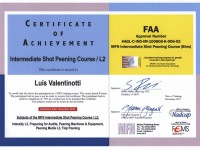 Shot peening FAA certificate Level 2